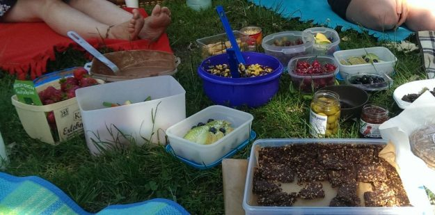 Schoko-Kokos-Power-Riegel beim Aroma-Picknick in Berlin