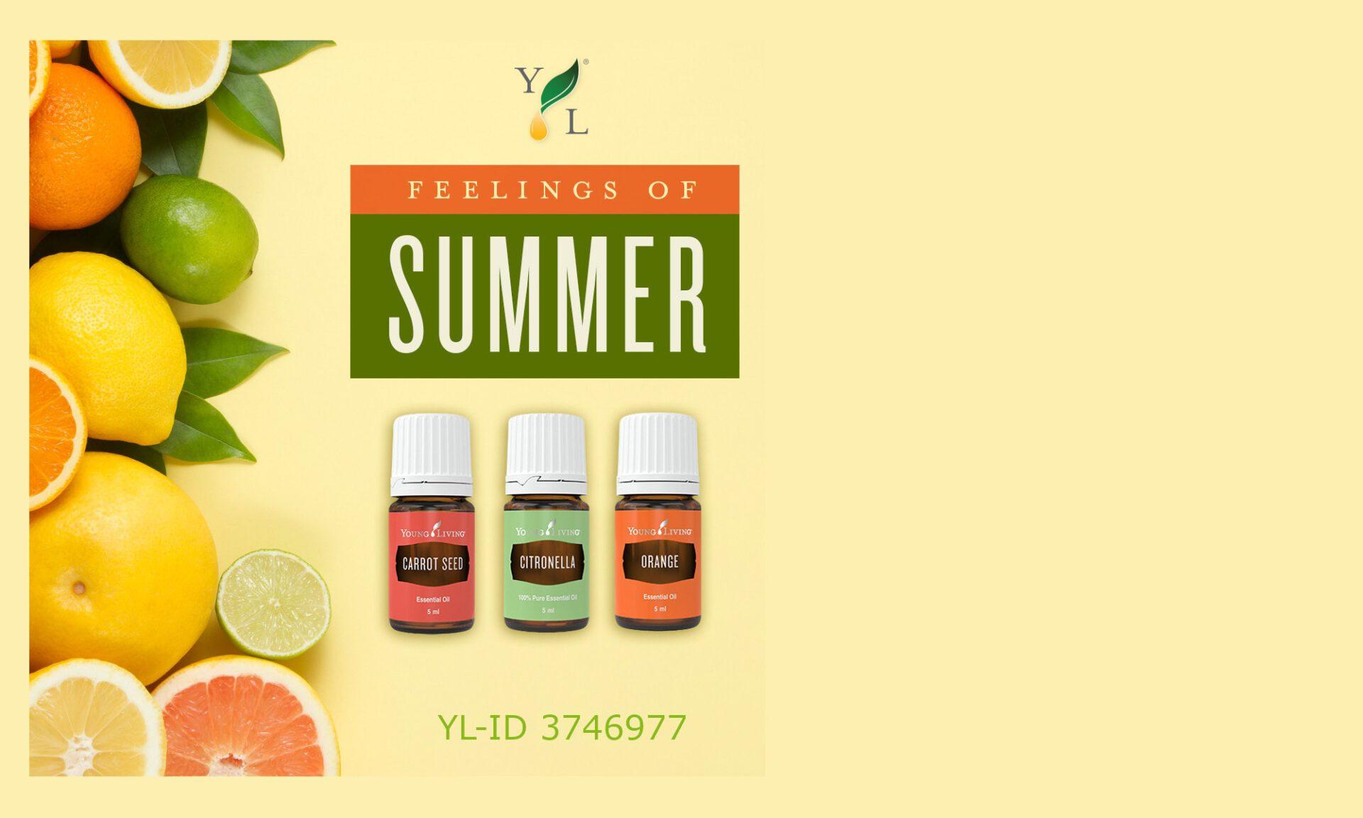 Karottensamen, Citronella und Orange ätherische Öle von Young Living