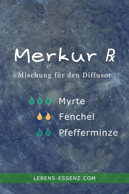 Oberfläche des Merkur - Rezept Diffusormischung für rückläufigen Merkur