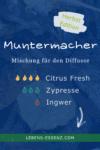 Muntermacher - Mischung für den Diffusor - mit 4 Tropfen Citrus Fresh, 3 Tropfen Zypresse und 1 Tropfen Ingwer - bei lebens-essenz.com
