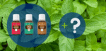 Grapefruit, Peace & Calming und Copaiba ätherische Öle plus Fragezeichen